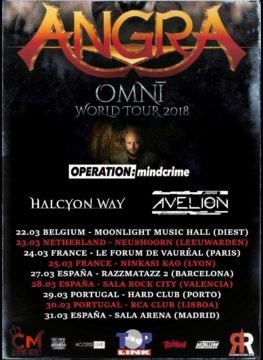 Avelion on Tour supporting Angra